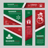 Abstract Christmas banner for Christmas Website Ads Royalty Free Stock Photo