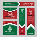 Abstract Christmas banner for Christmas Website Ads Stock Photography