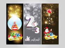 Abstract christmas Banner & new year banner Stock Photos