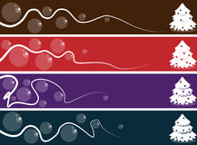 Abstract christmas banner set Royalty Free Stock Images