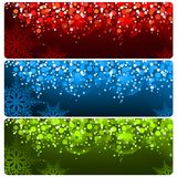 Abstract Christmas Banner royalty free illustration