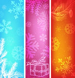 Abstract christmas banners set. Stock Photos