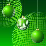 Abstract christmas baubles Royalty Free Stock Images