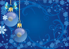Abstract Christmas a blue background Stock Images