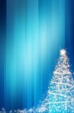 Abstract christmas blue background Stock Photos