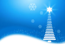 Abstract Christmas Blue Background. Abstract Christmas Tree with Blue Background stock illustration