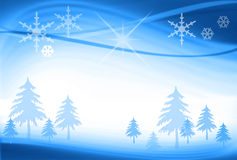 Abstract Christmas Blue Background. Abstract Christmas Trees on Blue Background royalty free illustration