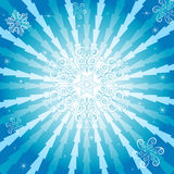 Abstract christmas blue background (vector). Abstract christmas decorative blue background with rays Royalty Free Stock Images