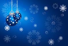 Abstract christmas blue background Royalty Free Stock Images