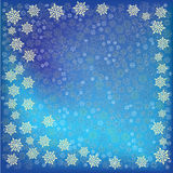 Abstract christmas blue Snowflakes background. Abstract christmas Snowflakes on a blue background Royalty Free Stock Photos