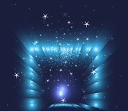 Abstract christmas blue stars background Stock Image