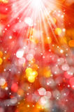 Abstract christmas bokeh Stock Photos