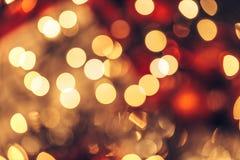Christmas bokeh light abstract holiday background. Abstract Christmas bokeh background. Red black and yellow colors Royalty Free Stock Image