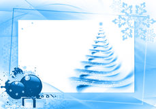 Abstract Christmas border Royalty Free Stock Photo