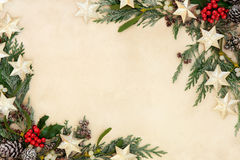 Abstract Christmas Border Royalty Free Stock Photography
