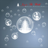 Abstract Christmas Bubble. Vector Illustration, EPS 10 Stock Photos