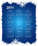Abstract christmas calendar. For 2011 Royalty Free Stock Photos