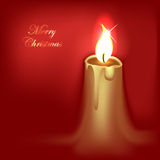 Abstract Christmas Candle Stock Image