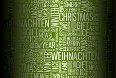 Abstract Christmas card Stock Photos