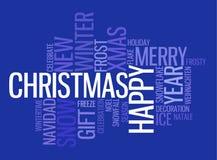 Abstract Christmas card Stock Photography