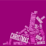 Abstract christmas card  Royalty Free Stock Photo