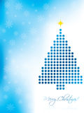 Abstract christmas card design. With blue christmas tree Stock Images