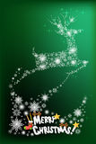 Abstract christmas card design of reindeer flying the sky - vector eps10 Royalty Free Stock Photos