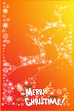 Abstract christmas card design of snowflake pattern - vector eps10. Snowflake reindeer flying the sky Stock Image