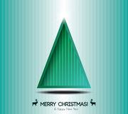 Abstract christmas card with modern elements. Stock Photos