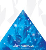 Abstract christmas card with modern elements. Royalty Free Stock Images