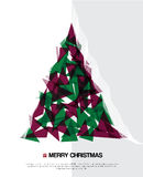 Abstract christmas card with modern elements. Stock Photography
