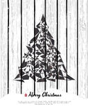 Abstract christmas card with modern elements. Royalty Free Stock Photo