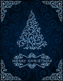 Abstract christmas card with pine tree Stock Photos