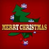Abstract Christmas card. Stock Photo