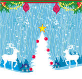 Abstract Christmas card with reindeer. Vector Illustration Royalty Free Stock Photography