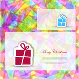 Abstract Christmas card Stock Photography