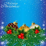 Abstract Christmas card. Royalty Free Stock Photography