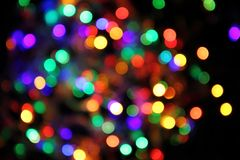 Abstract christmas color lights background Royalty Free Stock Image
