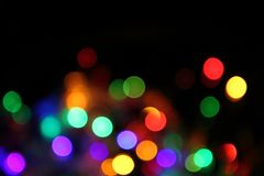 Abstract christmas color lights background Royalty Free Stock Images