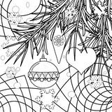 Abstract christmas coloring page book background. Abstract christmas New Year coloring page book background Royalty Free Stock Images