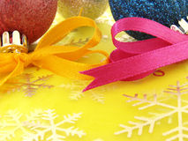Abstract christmas decorations Royalty Free Stock Images