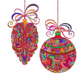 Abstract christmas decorations on a white background. Vector stock illustration