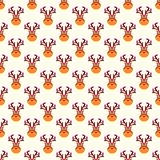 Abstract Christmas deer pattern wallpaper. Vector Royalty Free Stock Photo