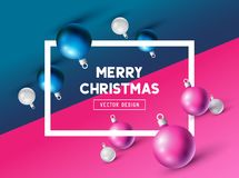 An abstract Christmas Design. With 3D effects and room for promotion / holiday messages. Vector illustration Royalty Free Stock Photography