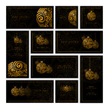 Abstract Christmas Design Collection Royalty Free Stock Images