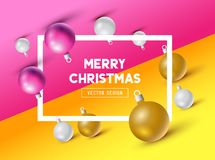 An abstract Christmas Design with 3D effects. And room for promotion / holiday messages. Vector illustration Royalty Free Stock Images