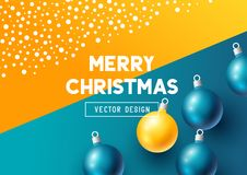 Abstract christmas design with baubles Royalty Free Stock Photo