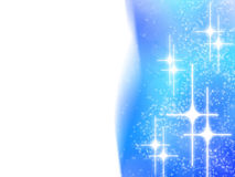 Abstract christmas design with white stars on blue Royalty Free Stock Photo