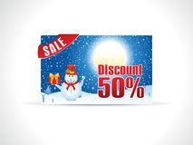 Abstract christmas discount card template Stock Photography