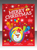 Abstract christmas flyer template. Vector illustration Stock Images